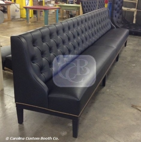 bar height banquette carolina custom booth blog. Black Bedroom Furniture Sets. Home Design Ideas